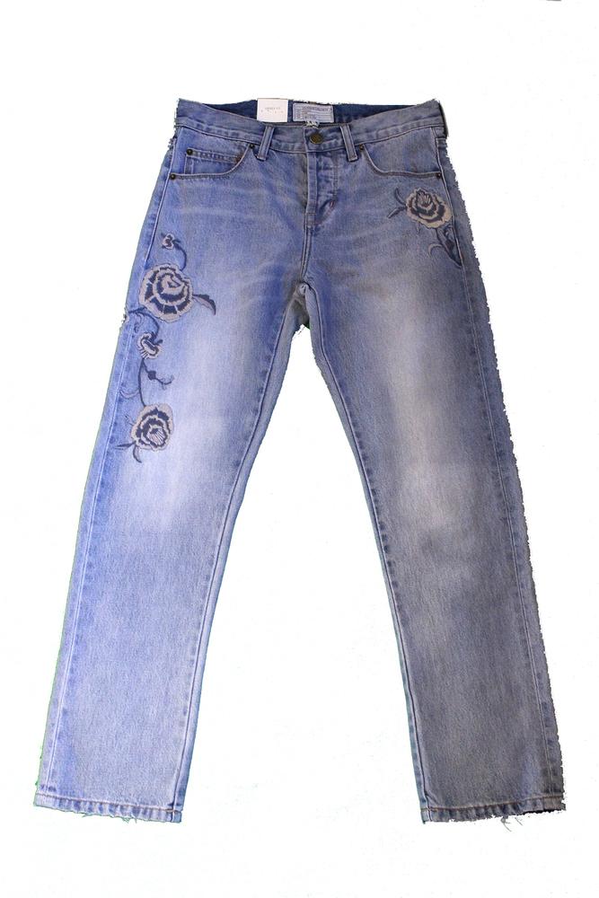 【正規取扱店】CURRENT/ELLIOTT THE CROSSOVER Relaxed Fit Jeans Harrison with Embroidery (カレントエリオット)