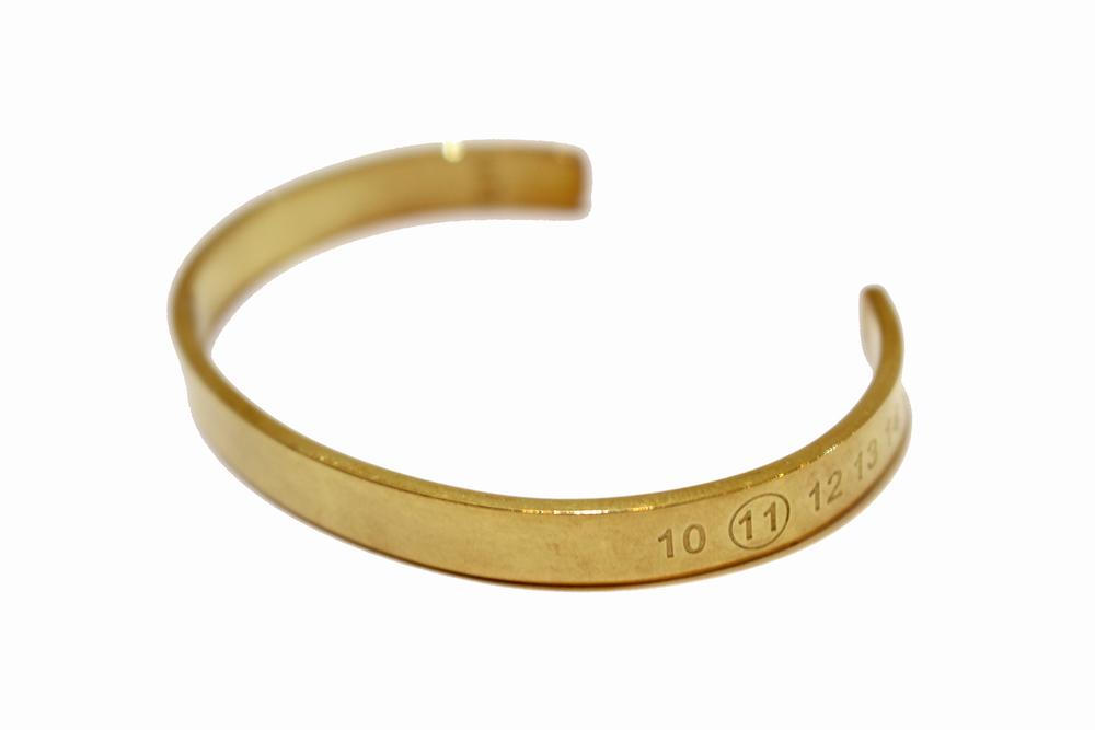 【正規取扱店】Maison Margiela ナンバー刻印 カフ GOLD (メゾンマルジェラ)
