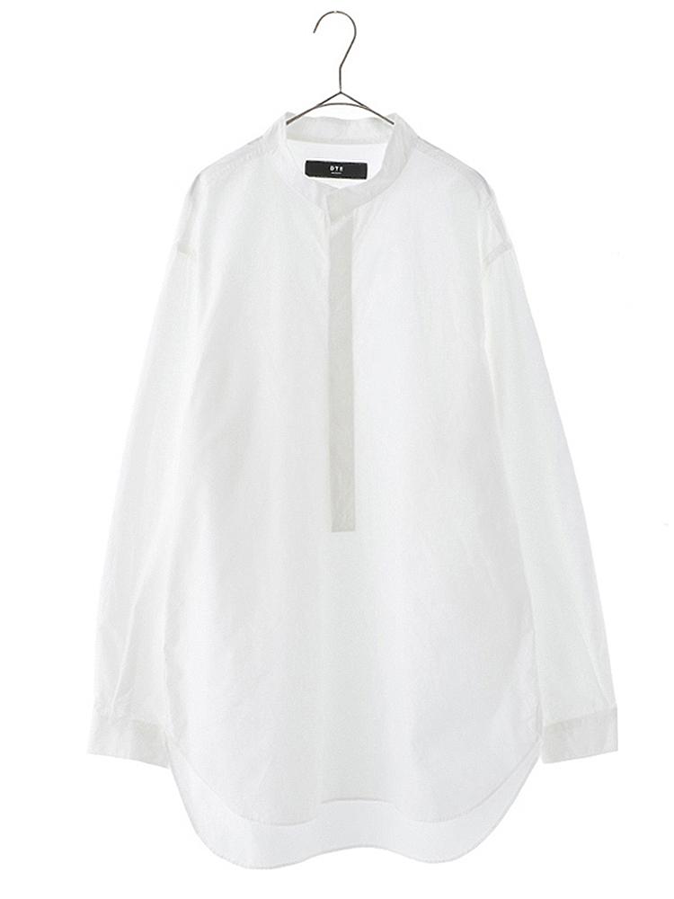 【正規取扱店】DtE in California ディーティーイーイン カリフォルニア Stand Collar Long Shirts WHITE