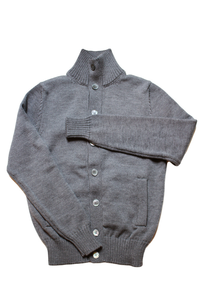 【正規取扱店】ZANONE ザノーネ CHIOTO SWEATERS MOCK NECK GREY Z4872