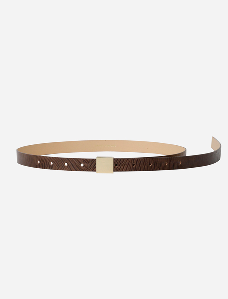 【正規取扱店】beautiful people 17-18A/W OBIJIME lizard belt dark brown (ビューティフルピープル)