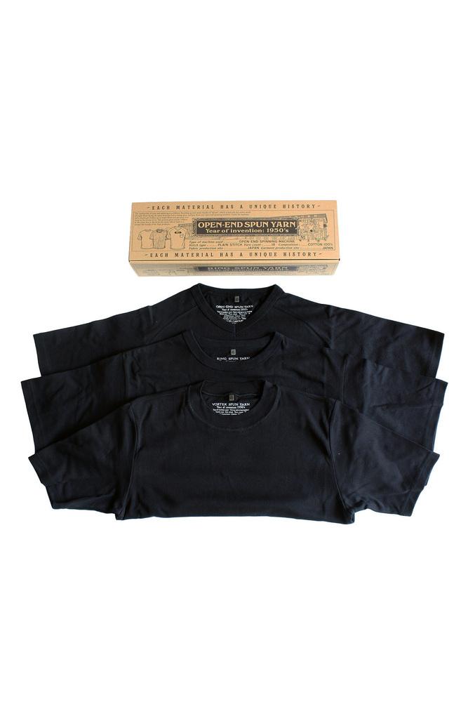 【正規取扱店】NIGEL CABOURN 3-PACK GYM TEES BLACK (ナイジェルケーボン)