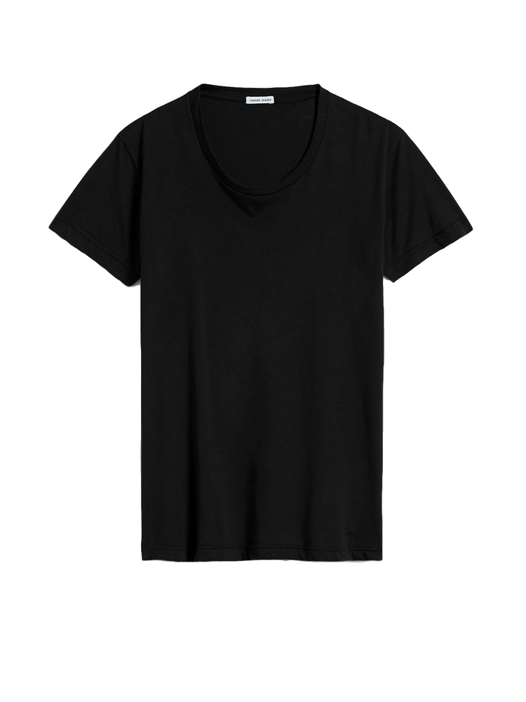 【正規取扱店】tomas maier MEN'S 18S/S scoop neck t-shirt 1010 BLACK (トーマスマイヤー メンズ)