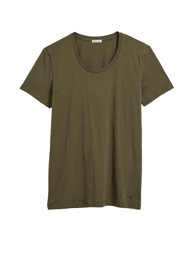 【正規取扱店】tomas maier MEN'S 18S/S scoop neck t-shirt 1201 GRANITE (トーマスマイヤー メンズ)