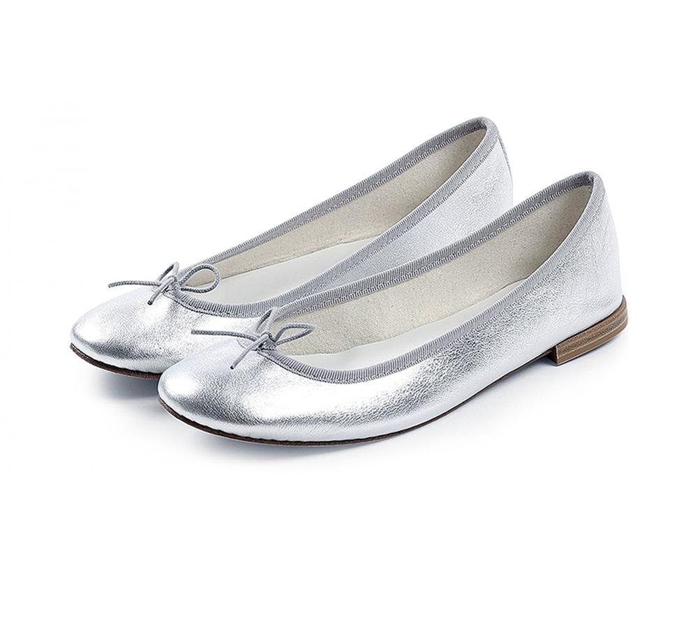 【正規取扱店】repetto Ballerina Cendrillon Metallic Silver (レペット) (サンドリオン レペット)