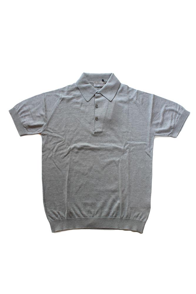 【正規取扱店】JOHN SMEDLEY 18S/S S3798 コットンニットポロシャツ SILVER (ジョンスメドレー)