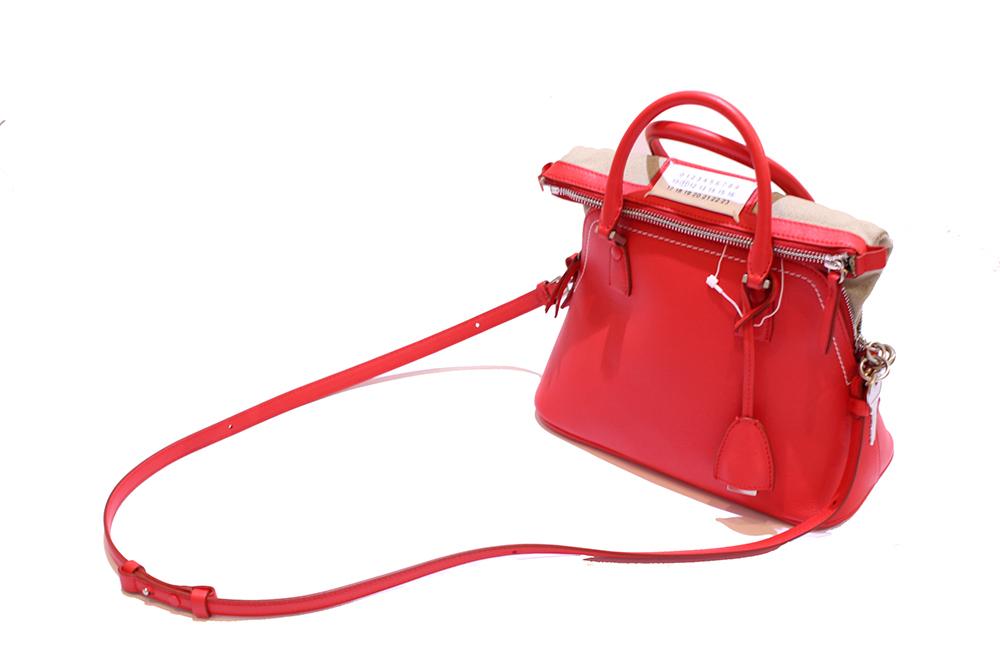 【正規取扱店】Maison Margiela Lady's スモール 5AC レザーバッグ RED (メゾンマルジェラ レディース)