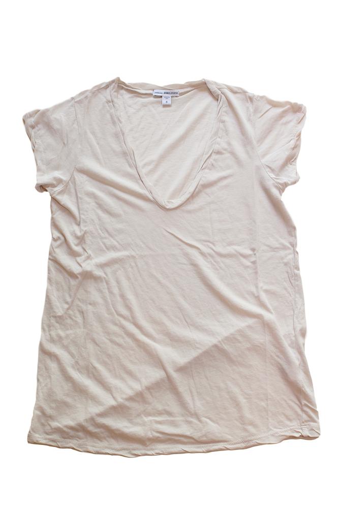 【正規取扱店】JAMES PERSE WEK3182 ハイゲージ深VネックTシャツ CIRS (ジェームスパース)
