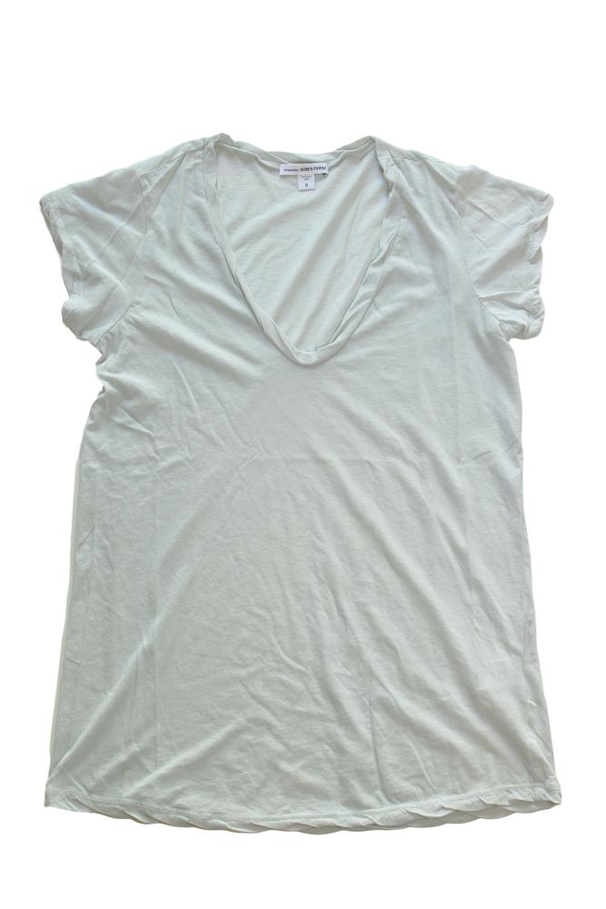 【正規取扱店】JAMES PERSE WEK3182 ハイゲージ深VネックTシャツ MIS (ジェームスパース)