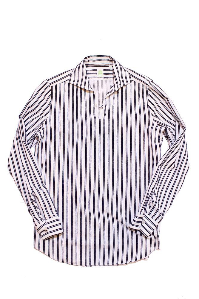 【正規取扱店】FINAMORE フィナモレ MINORCA カプリシャツ WHITE/NAVY