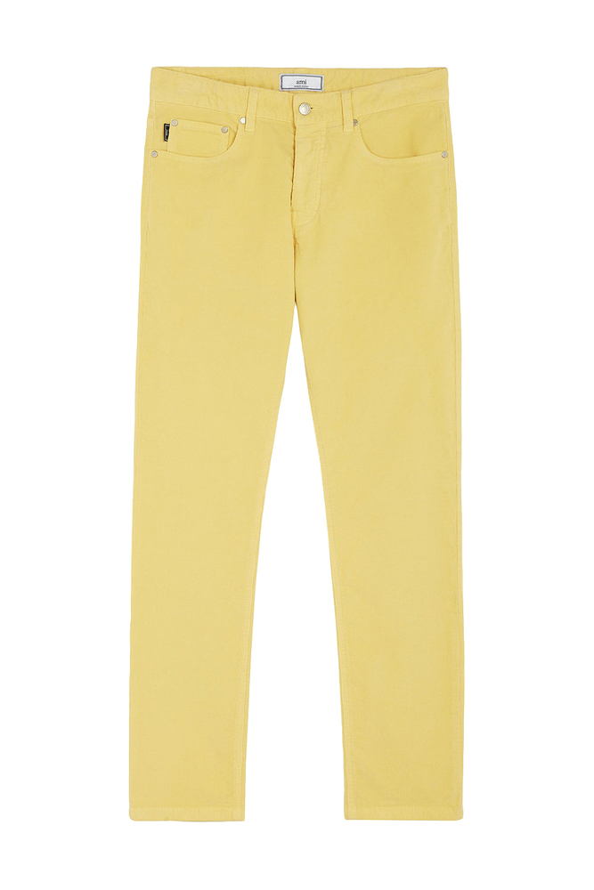 【正規取扱店】AMI Alexandre Mattiussi 18-19A/W AMI FIT 5 POCKETS CORDUROY PANTS YELLOW (アミ アレクサンドル マテュッシ)