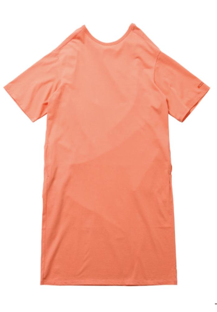 【正規取扱店】beautiful people 18-19A/W ドライコットンロングネックドレス orange (ビューティフルピープル)