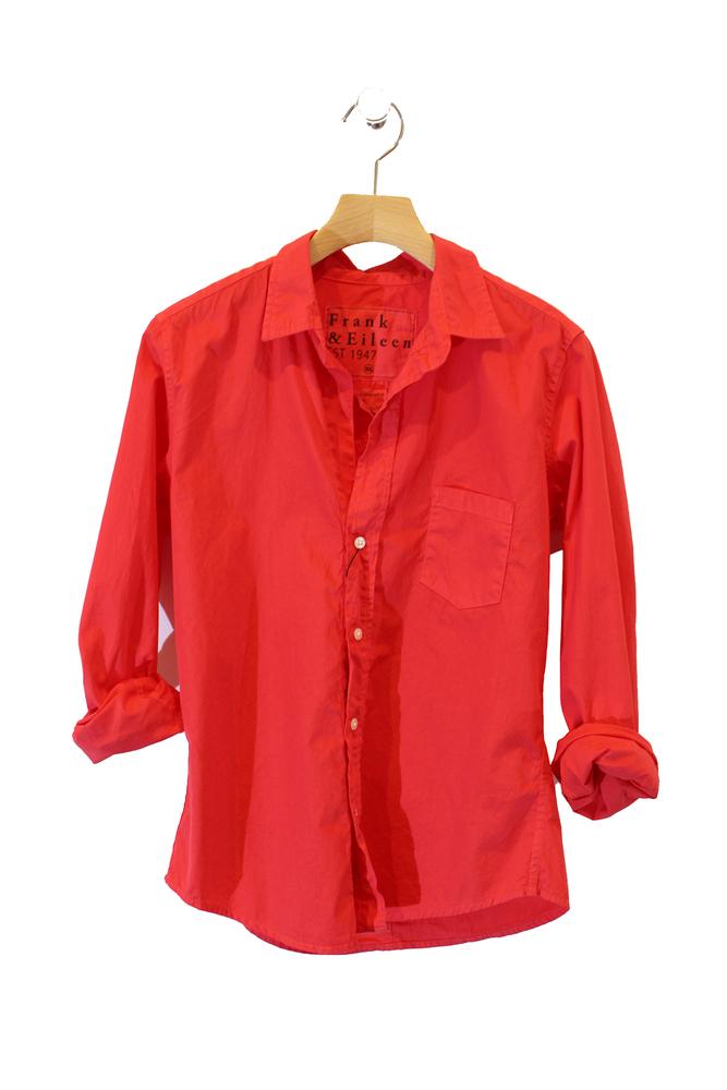 【正規取扱店】Frank&Eileen BARRY RED レディースシャツ (フランクアンドアイリーン バリー)