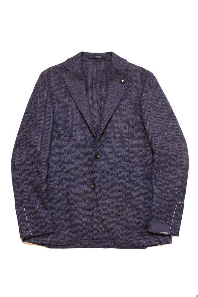 【正規取扱店】LARDINI ラルディーニ 18-19A/W ヘリンボーンジャケット BLUEGREY