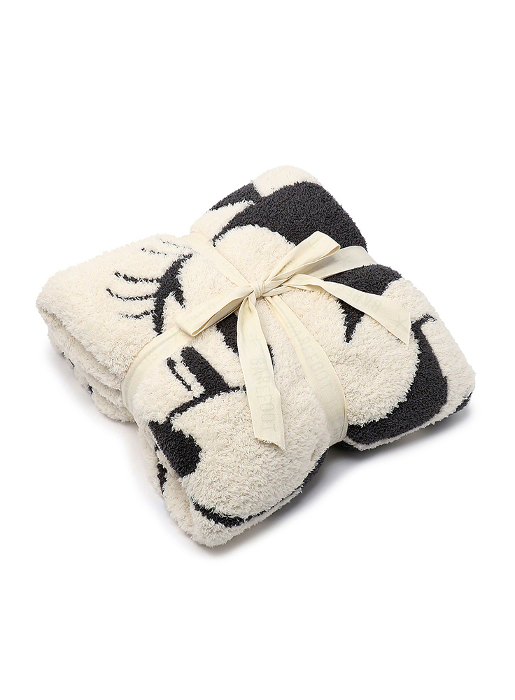 【正規取扱店】Barefoot Dreams D104 Classic Minnie Mouse / Blanket (ベアフットドリームス)