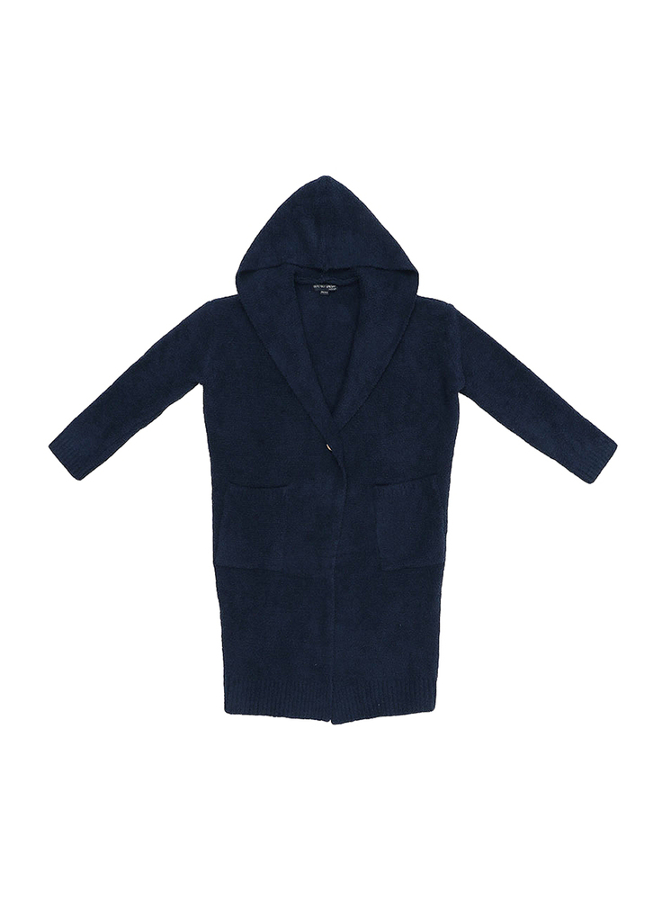 【正規取扱店】Barefoot Dreams C668 WOMEN'S HOODED LONG CARDIGAN NAVY (ベアフットドリームス)