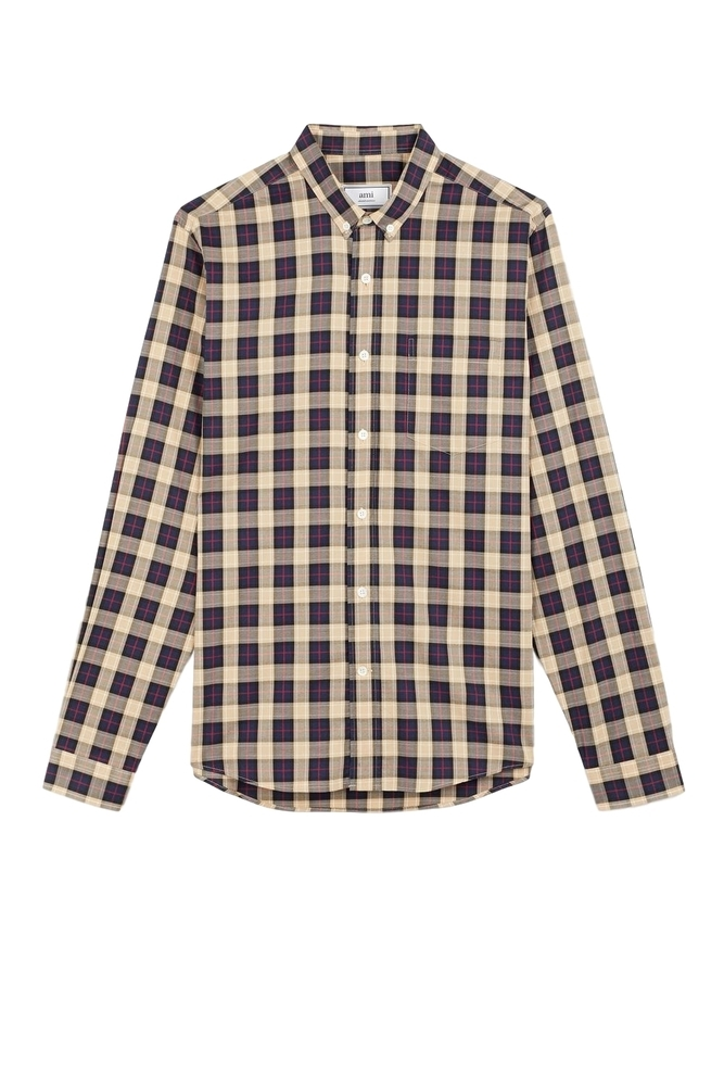 【正規取扱店】AMI Alexandre Mattiussi 19S/S ボタンダウンシャツ TRICOLOR (アミ アレクサンドル マテュッシ)