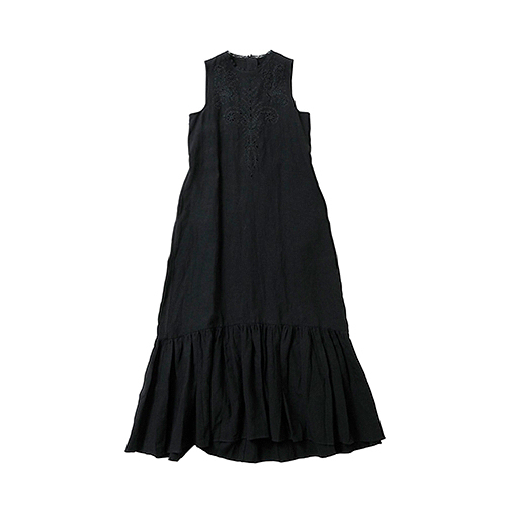 beautiful people ビューティフルピープル 19S/S cutwork embroidary vintage dress black