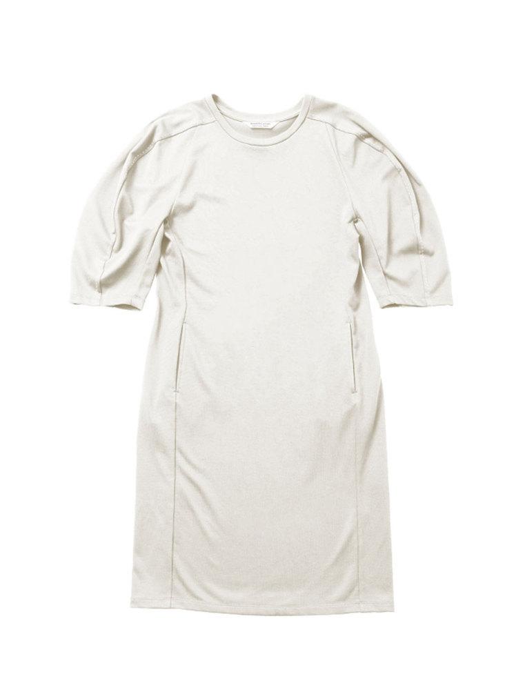 beautiful people ビューティフルピープル 19S/S スビンピマジャージーマトンスリーブドレス off white