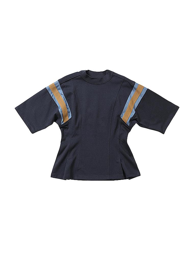 beautiful people ビューティフルピープル 19-20A/W スビンピマジャージ―フットボールTシャツ navy