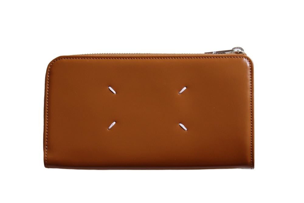 【正規取扱店】Maison Margiela 19-20A/W L字ジップ長財布 H4200 BROWN (メゾン マルジェラ)