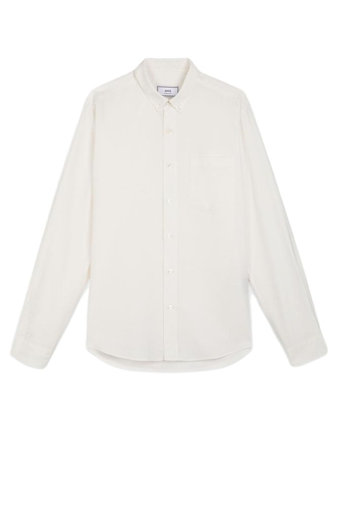 【正規取扱店】AMI Alexandre Mattiussi アミ アレクサンドル マテュッシ 19-20A/W ボタンダウンシャツ OFF WHITE