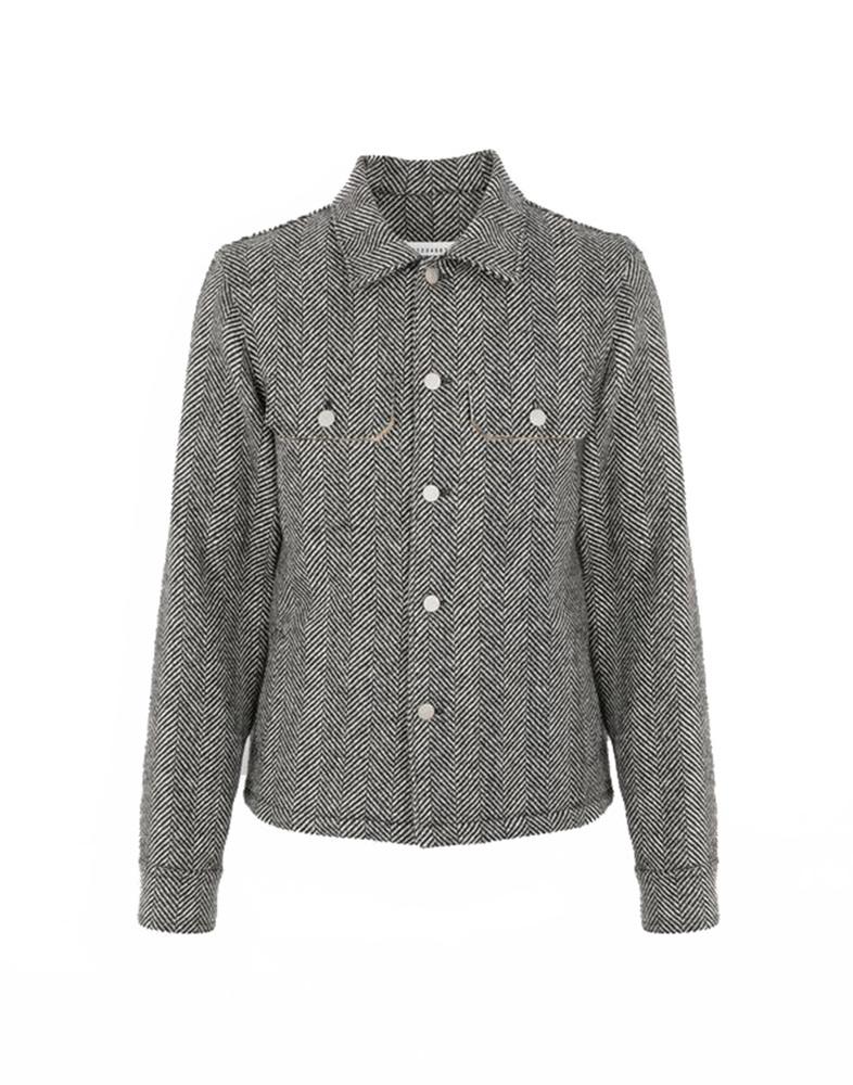 【正規取扱店】Maison Margiela 19-20A/W ヘリンボーンジャケット BLACK (メゾン マルジェラ)