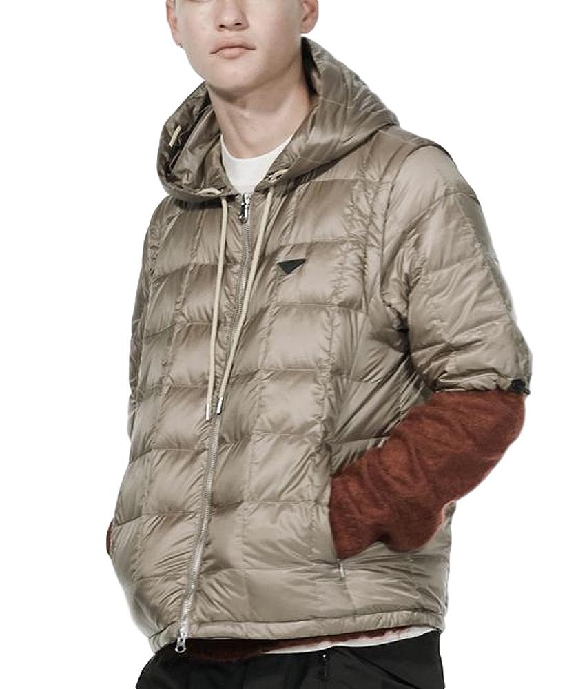 【正規取扱店】TAION EXTRA タイオン MENS HOODIE INNER DOWN SET メンズフードインナーダウンセット KHAKI