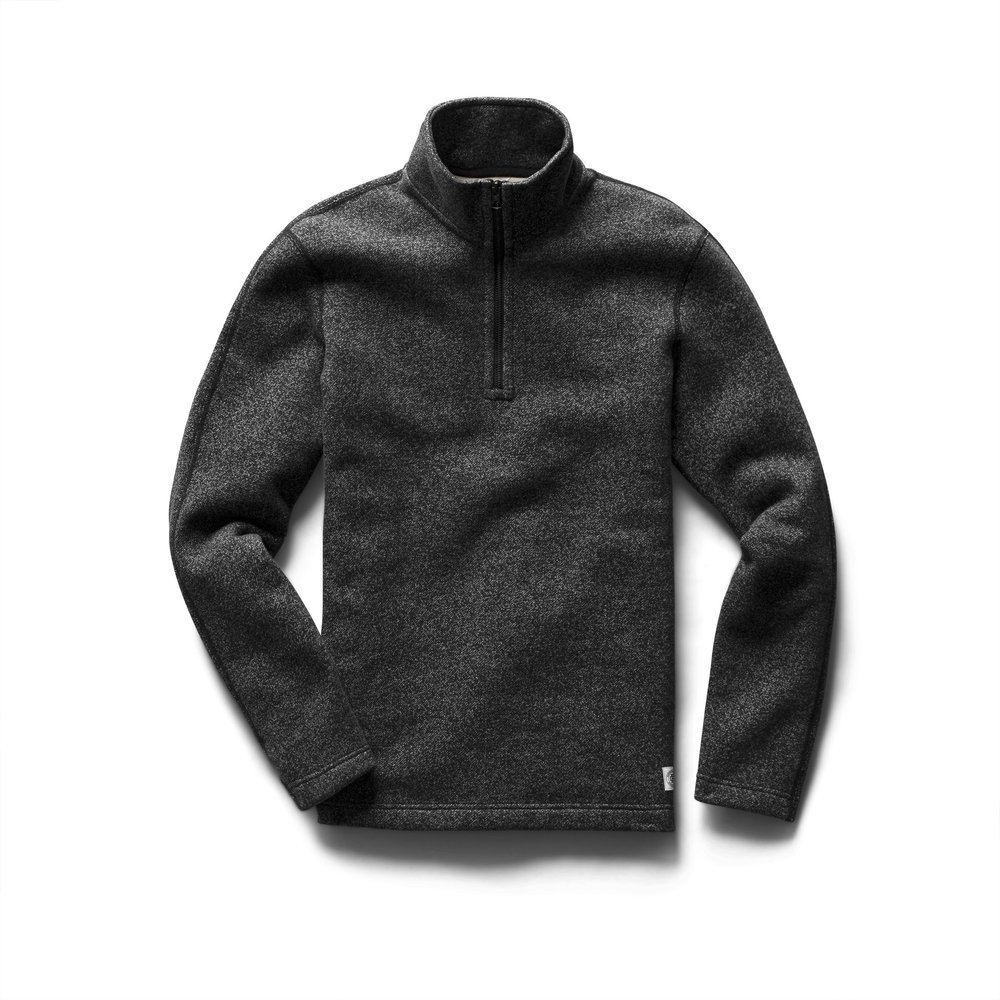 【正規取扱店】REIGNING CHAMP HALF ZIP PULLOVER TIGER FLEECE RC-3498 BLACK (レイニングチャンプ)