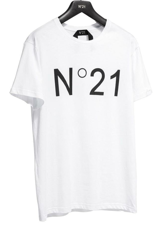 【正規取扱店】N°21 ヌメロ ヴェントゥーノ 定番ロゴカットソー WHITE