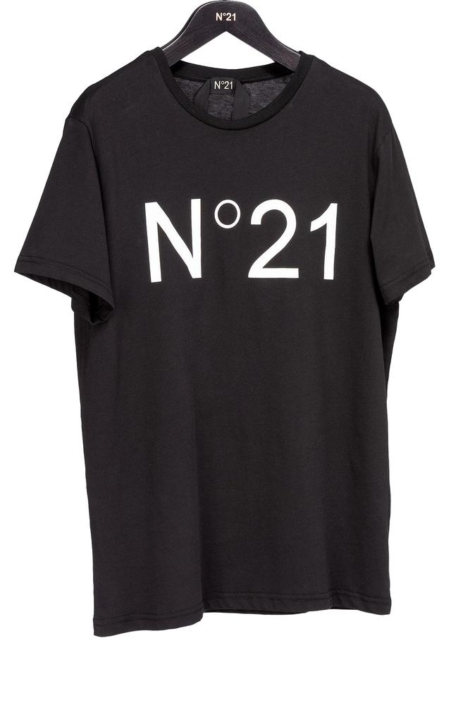 【正規取扱店】N°21 ヌメロ ヴェントゥーノ 定番ロゴカットソー BLACK