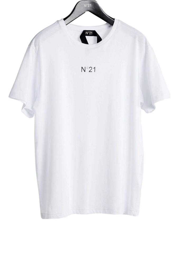 【正規取扱店】N°21 ヌメロ ヴェントゥーノ ミニロゴカットソー WHITE