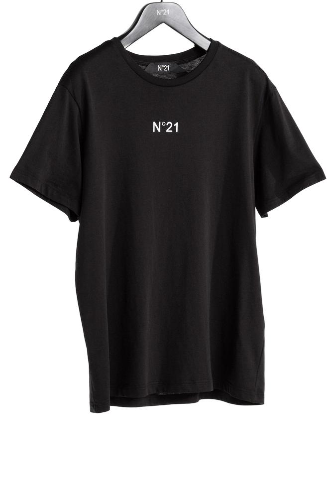 【正規取扱店】N°21 ヌメロ ヴェントゥーノ ミニロゴカットソー BLACK