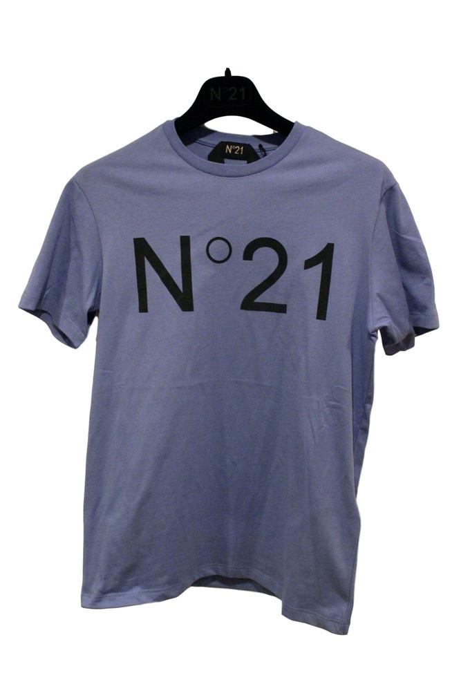 【正規取扱店】N°21 ヌメロ ヴェントゥーノ 定番ロゴカットソー BLUE
