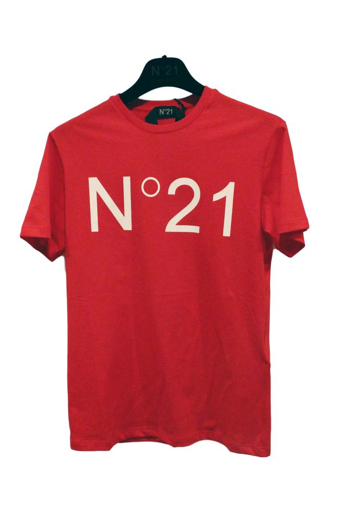 【正規取扱店】N°21 ヌメロ ヴェントゥーノ 定番ロゴカットソー RED
