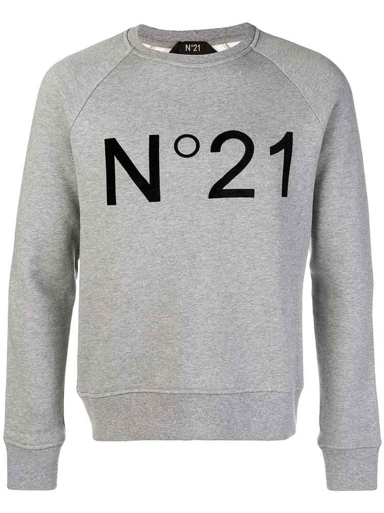 【正規取扱店】N°21 ヌメロ ヴェントゥーノ 定番ロゴスエットトップス GREY