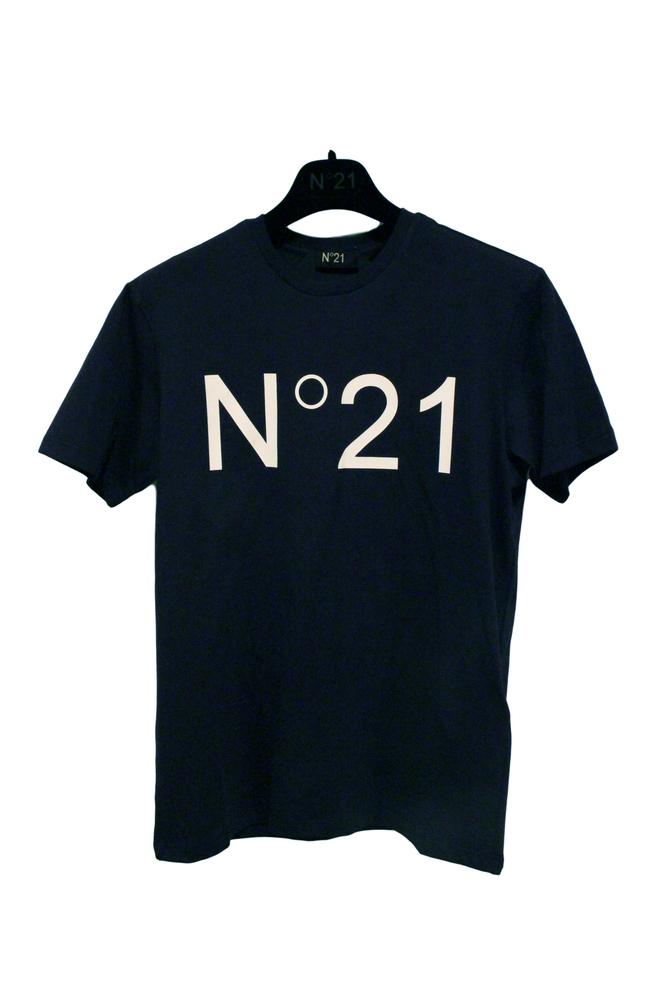 【正規取扱店】N°21 ヌメロ ヴェントゥーノ 定番ロゴカットソー NAVY