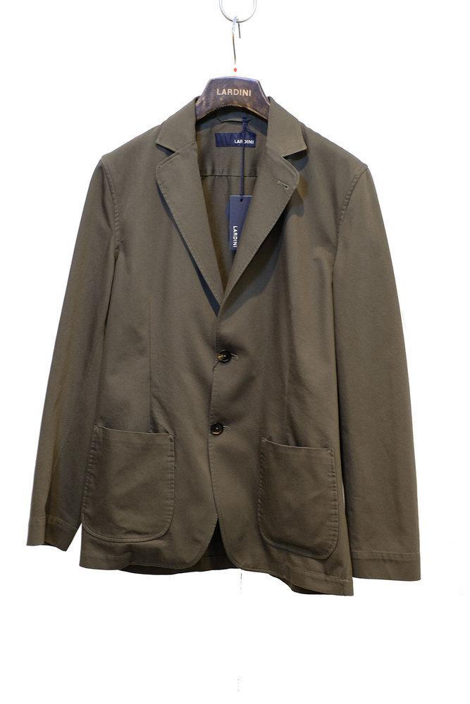 【正規取扱店】LARDINI ラルディーニ 20S/S コットン ソリッド ジャケット OLIVE
