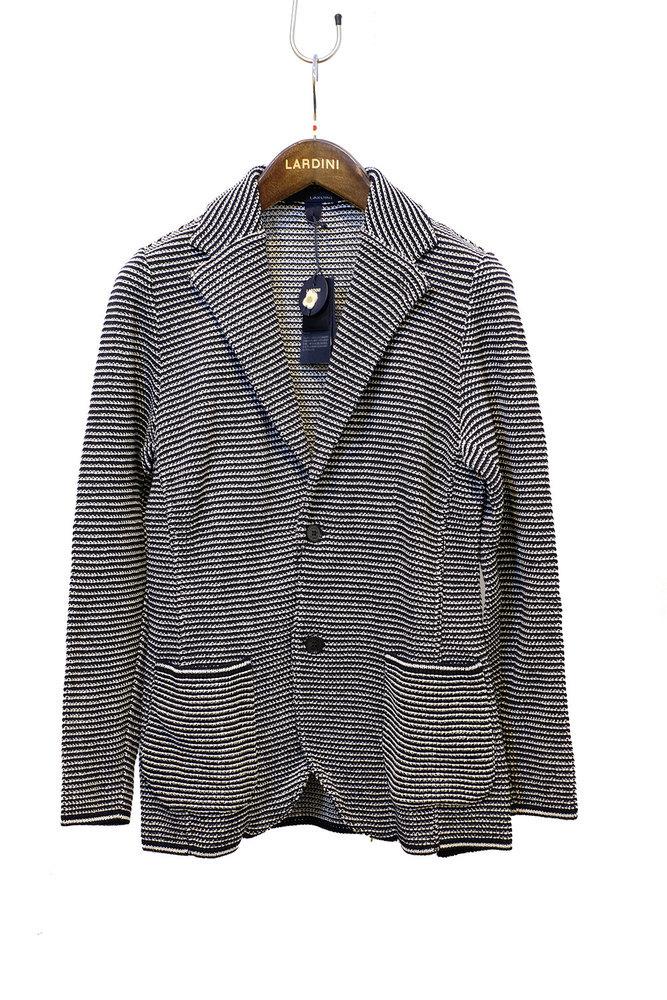 【正規取扱店】LARDINI ラルディーニ 20S/S ニットジャケット NAVY/WHITE