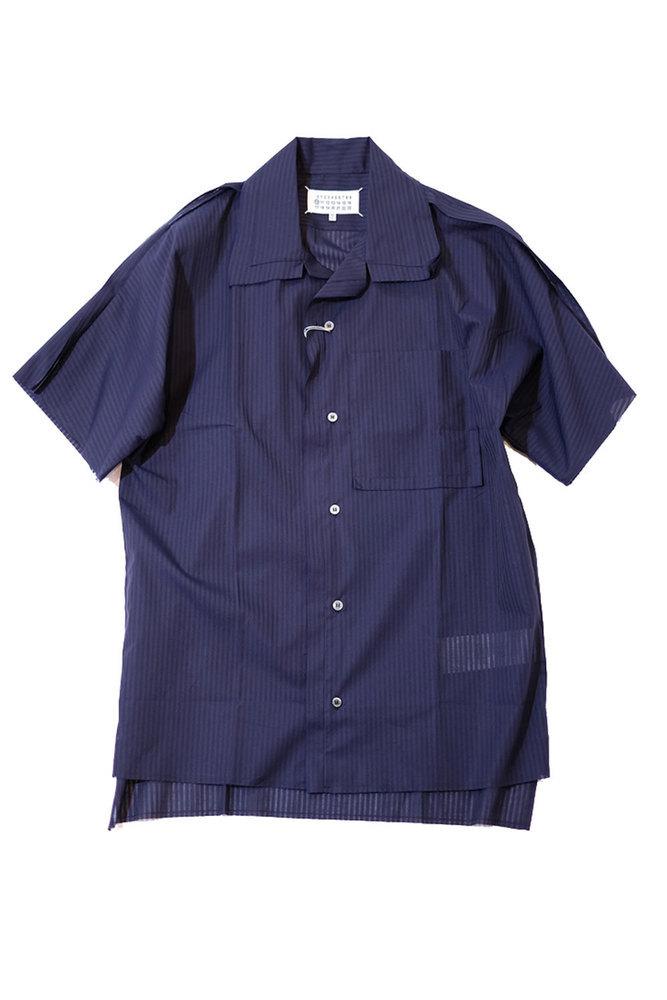 Maison Margiela メゾン マルジェラ 20S/S アウトシームシャツ NAVY