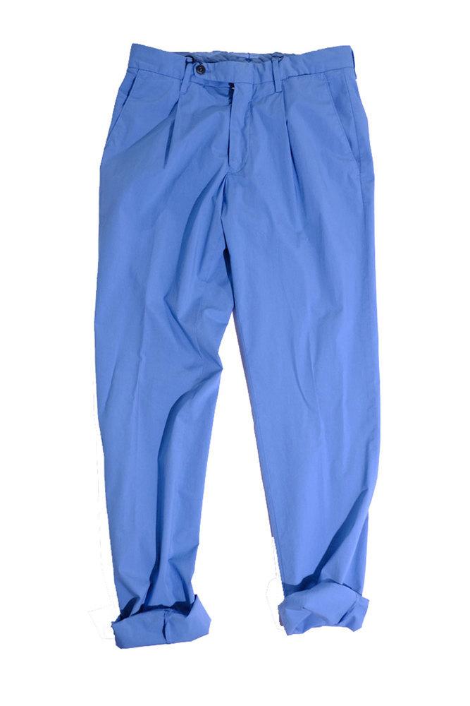 【正規取扱店】LARDINI ラルディーニ 20S/S ウォッシャブルコットンストレッチトラウザーズ BROWN/SALMON PINK/BLUE