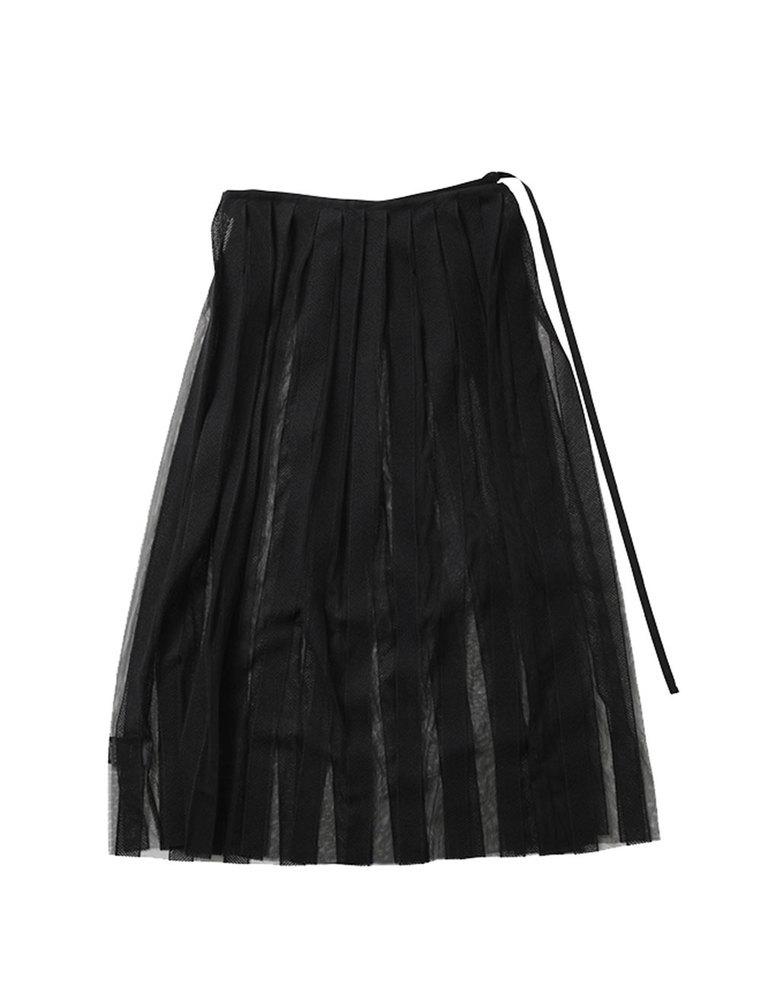 beautiful people ビューティフルピープル 20S/S チュールレースプリーツスカート black