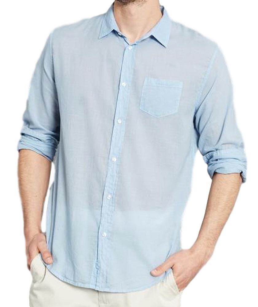 【正規取扱店】Frank&Eileen LUKE F002 メンズシャツ VOILE SHIRTING BLUE (フランクアンドアイリーン ルーク)