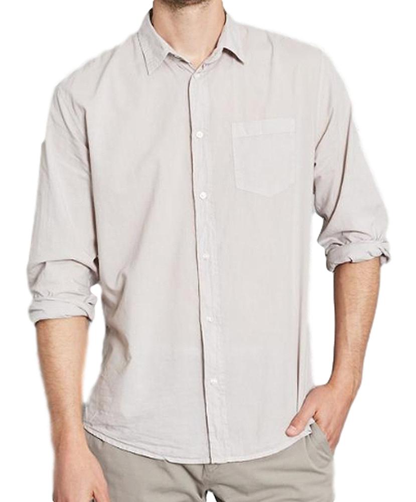 【正規取扱店】Frank&Eileen LUKE L299 メンズシャツ GRAY LIGHT POPLIN (フランクアンドアイリーン ルーク)