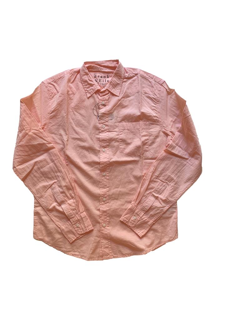 【正規取扱店】Frank&Eileen LUKE L294 メンズシャツ CORAL LIGHT POPLIN (フランクアンドアイリーン ルーク)