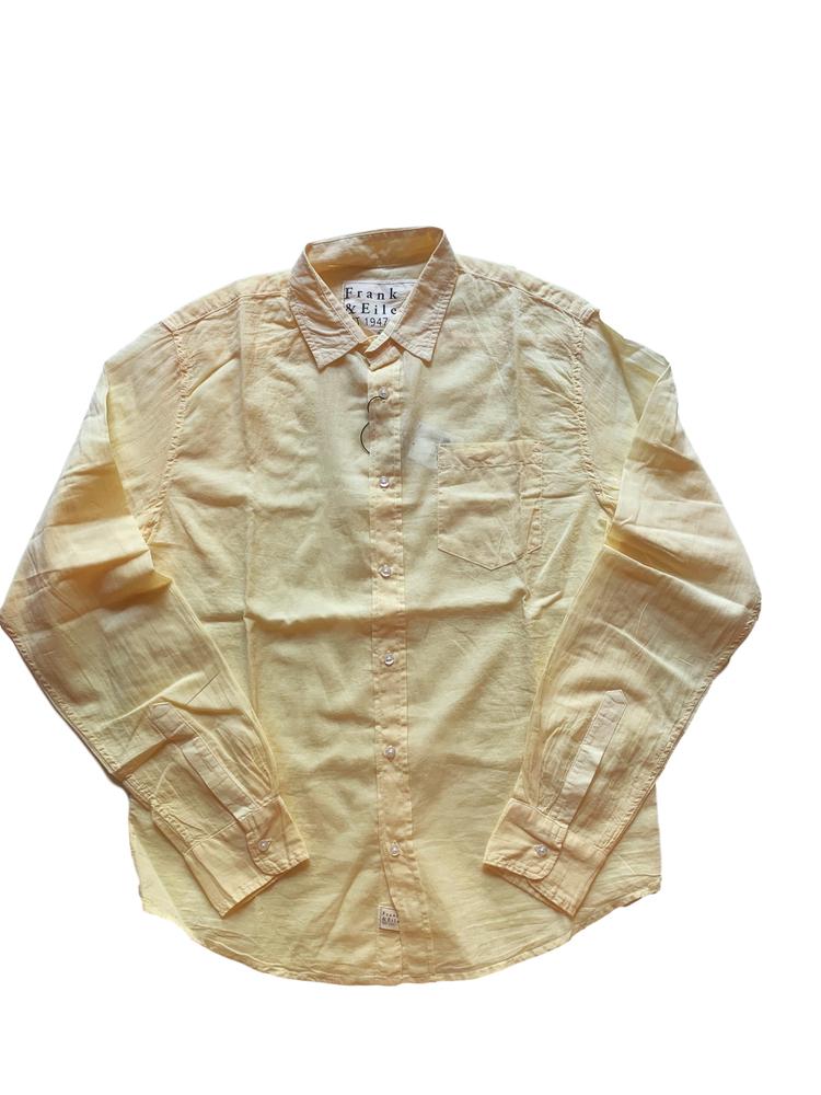 【正規取扱店】Frank&Eileen LUKE F224 メンズシャツ VOILE LIGHT YELLOW (フランクアンドアイリーン ルーク)