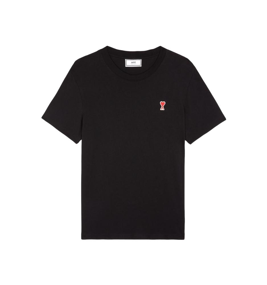 【正規取扱店】AMI Alexandre Mattiussi 20S/S AMI DE COEUR Tシャツ BLACK (アミ アレクサンドル マテュッシ)