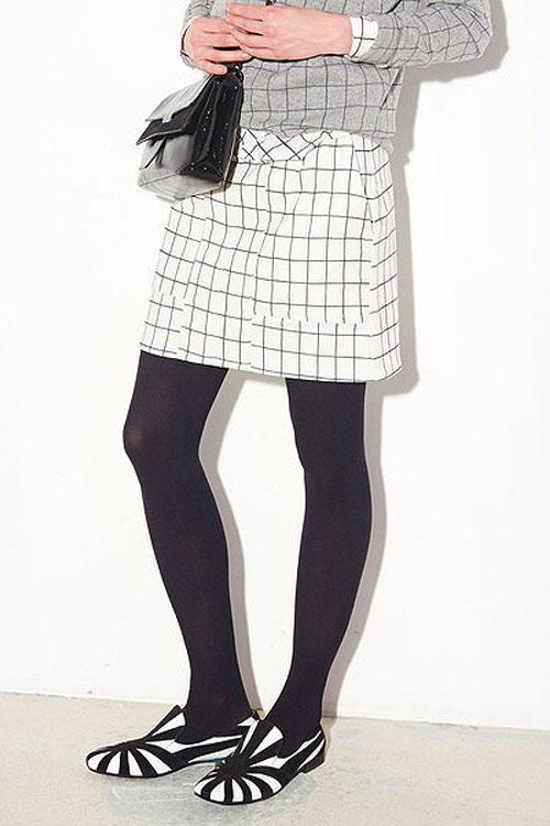 【正規取扱店】tomas maier スカート CHALK-BLACK-CHROME (トーマスマイヤー)