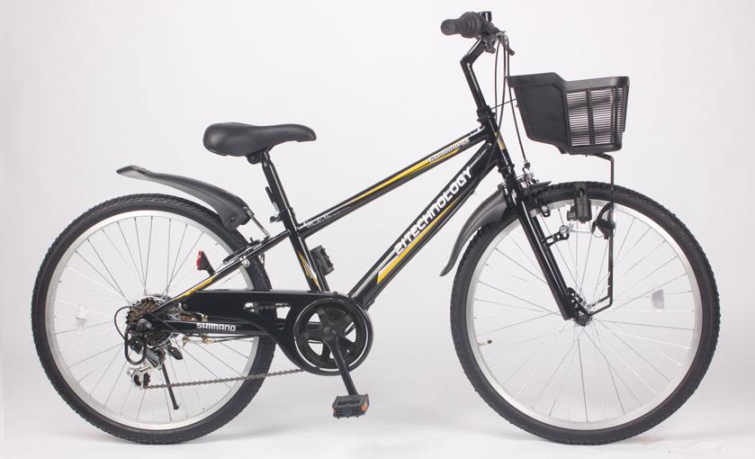 【送料無料】21Technology 21テクノロジー KD246 24インチ 子供用マウンテンバイク ブラック 自転車本体 21テクノロジー【代引不可】