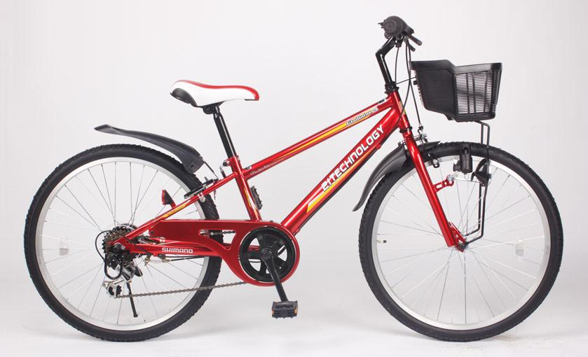 【送料無料】21Technology 21テクノロジー KD246 24インチ 子供用マウンテンバイク レッド 自転車本体 21テクノロジー【代引不可】